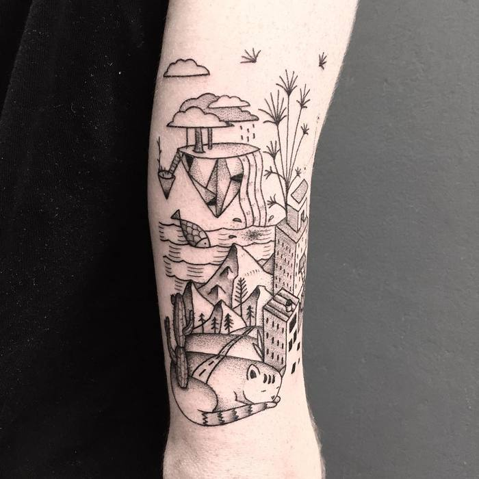 Impressive Abstract Tattoos by Mast Cora