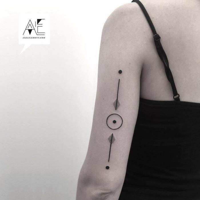 Minimalist Geometric Tattoos by Axel Ejsmont