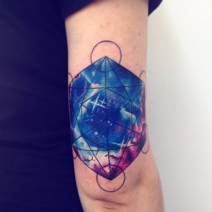 Geometric Watercolor Tattoo By Adrian Bascur