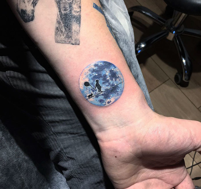 Moon Tattoo By Eva Krbdk