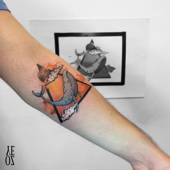 Whale Tattoo by Yeliz Ozcan