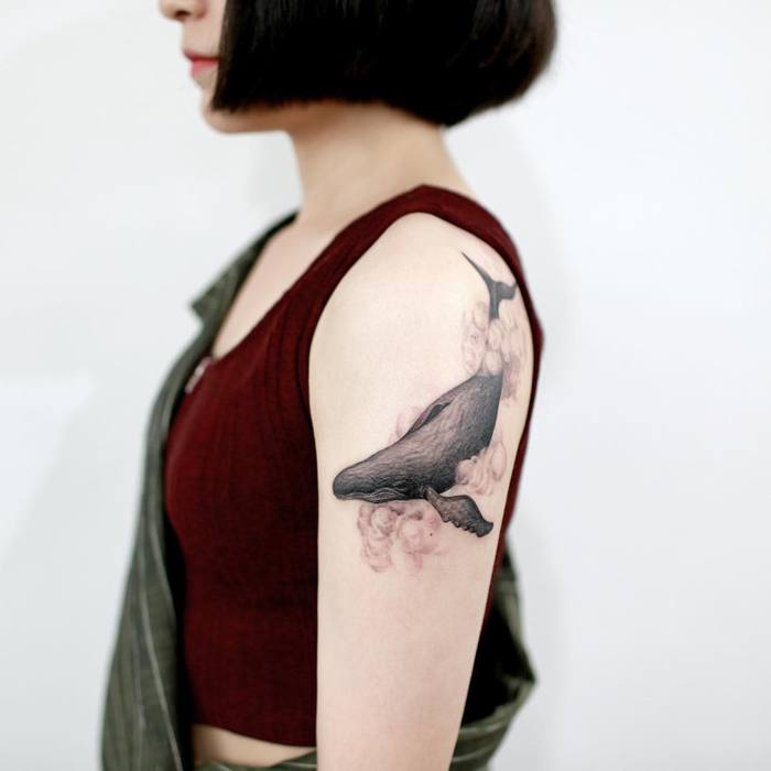 Whale Tattoo by Tattooist_Doy