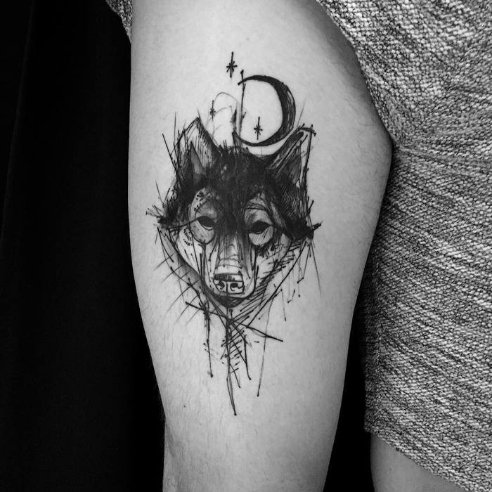 Wolf Tattoo by kamilmokot