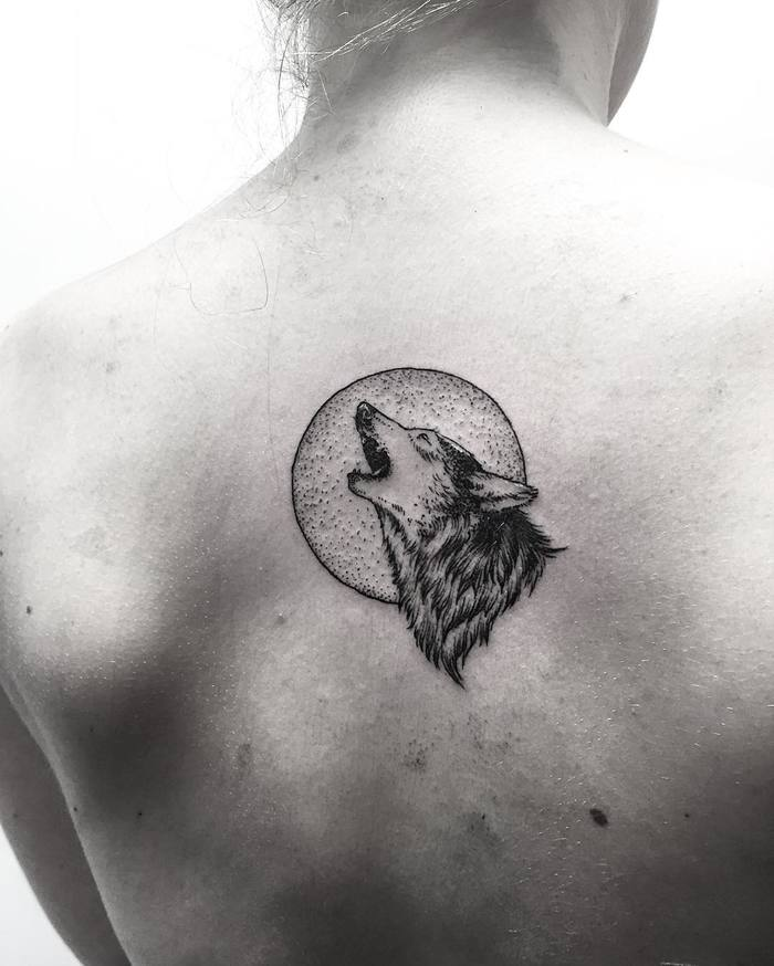Wolf Tattoo by Michael George Pecherle