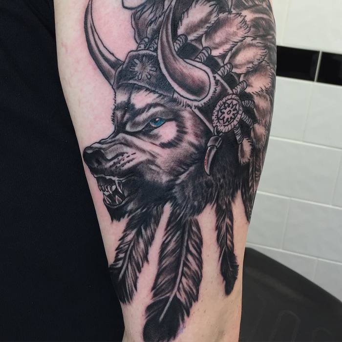 Wolf Tattoo by paulbonney73