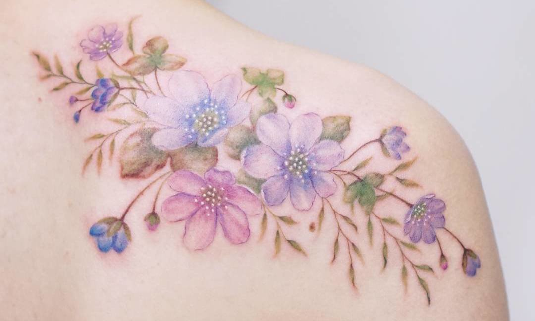 Floral Tattoo by Tattooist Silo