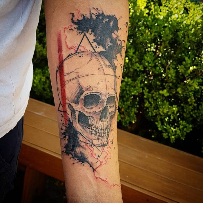 Skull Tattoo by Zoio Tattoo