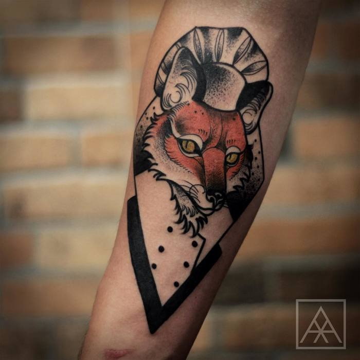 Fox Tattoo by maxvorax