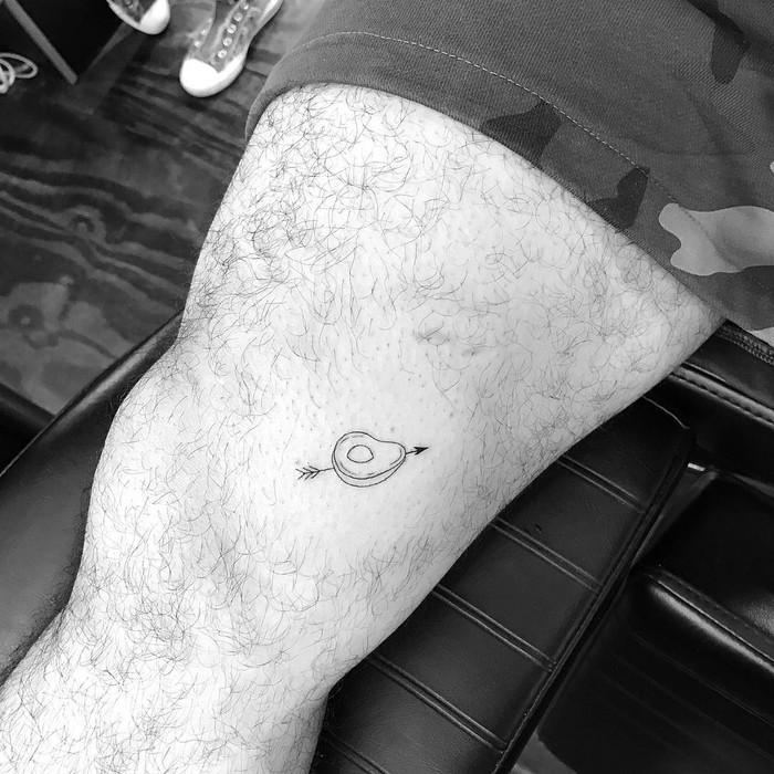 Minimalist Avocado Tattoo by jk.tat
