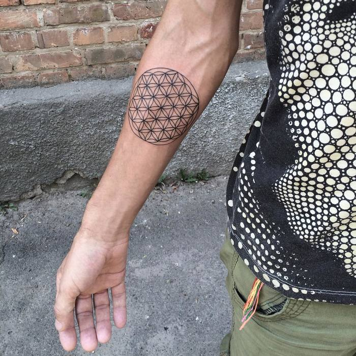 Flower of Life Tattoo by mary_tereshchenko