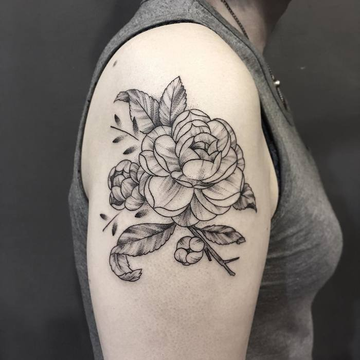 Camellia Tattoo by mimimowmow