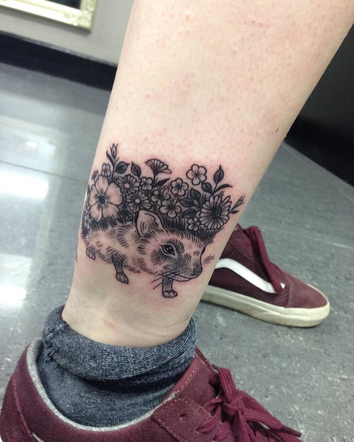 Hedgehog Tattoo by jakeparkintattoo