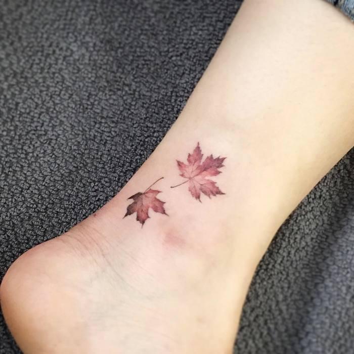 Maple Leaf Tattoo bytattooist_flower