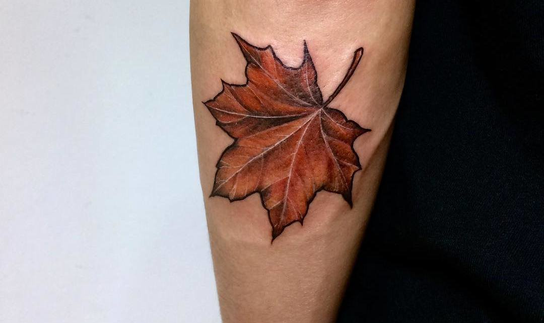 33 Gorgeous Maple Leaf Tattoo Designs