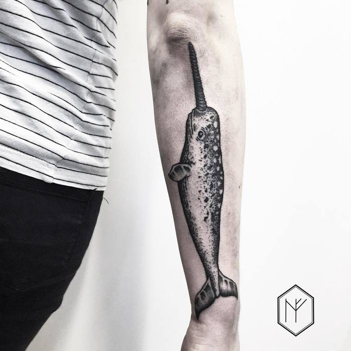 Narwhal Tattoo by henjafin