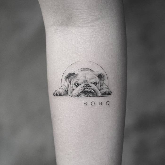 Bulldog Tattoo by Mr. K