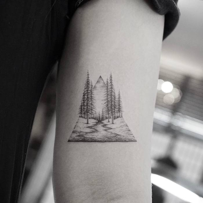 Landscape Tattoo by Mr. K